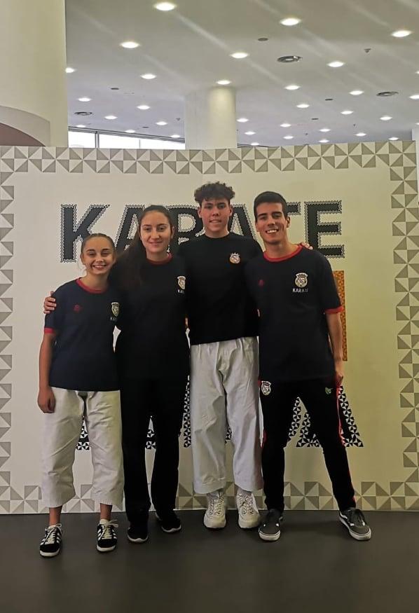 Karatecas do Futebol Clube de Alverca no Open de Lisboa