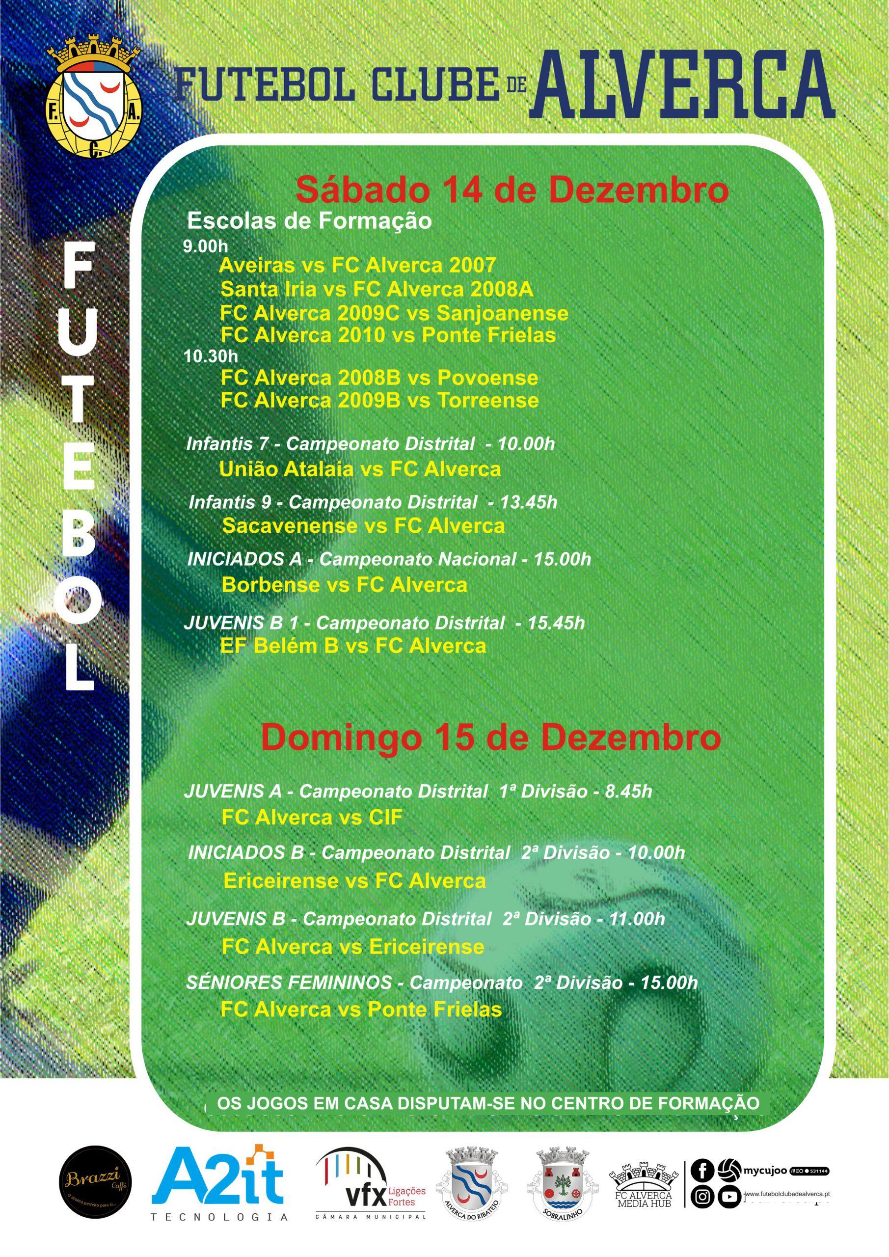 Futebol - Jogos para 14 e 15 de dezembro